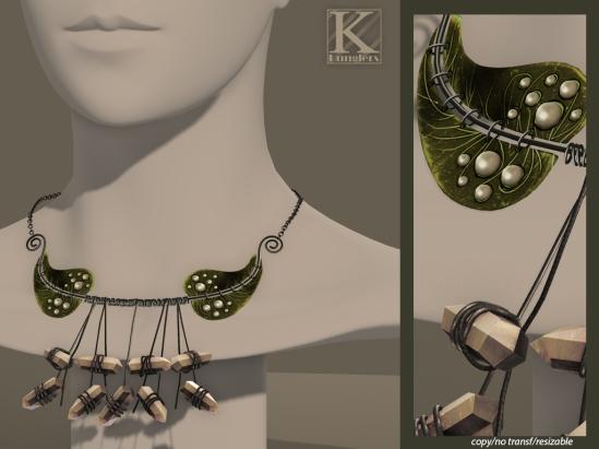 (Kunglers Extra) eliza vendor necklace - green