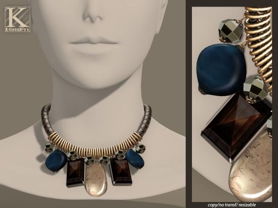 (Kunglers Extra) Melita necklace - Silver jade