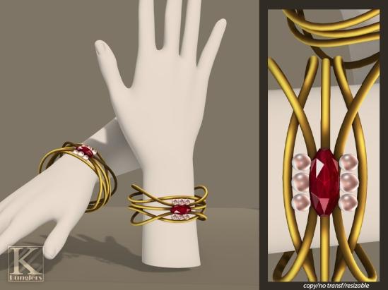 (Kunglers) TDRF #069 bracelet vendor ruby