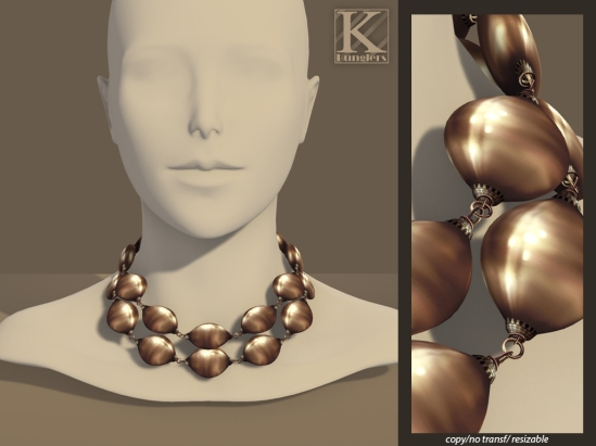 (Kunglers) Helena necklace - copper