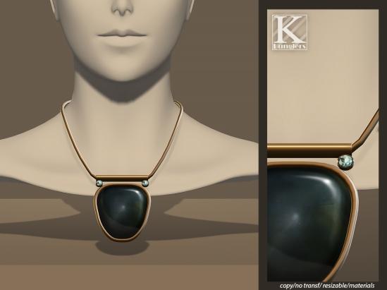 (Kunglers) Lidia necklace malachite